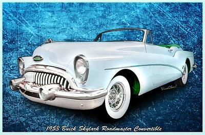 Buick Skylark Roadmaster Convertible For 1953 Poster