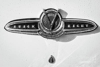 Poster featuring the photograph Buick V Eight Monotone by Dennis Hedberg