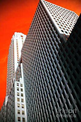 Building Angles Pop Art Poster by John Rizzuto