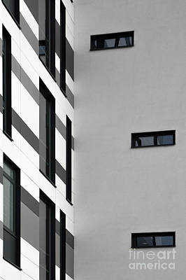 Poster featuring the photograph Building Block - Black And White by Wendy Wilton