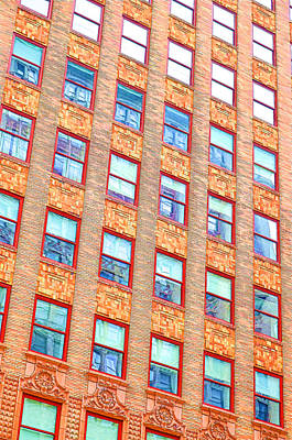 Building Closeup In Manhattan 13 Poster by Lanjee Chee