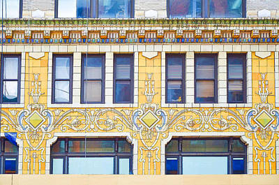 Building Closeup In Manhattan 4 Poster by Lanjee Chee