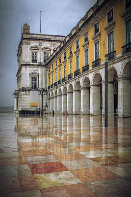 Building Of Terreiro Do Paco Poster