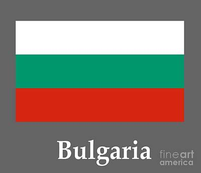 Bulgaria Flag And Name Poster by Frederick Holiday