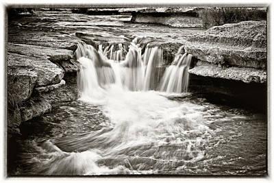 Bull Creek Water Run Poster by Lisa  Spencer