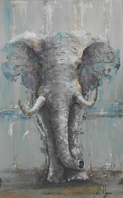 Bull Elephant Poster by John Henne