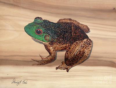 Bull Frog Art Work Poster