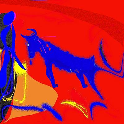 Bull Meets Matador Poster by Mimo Krouzian