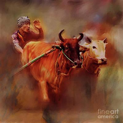 Bull Race 04 Poster by Gull G