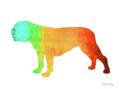 Bulldog Art Poster by Ken Figurski