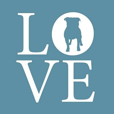 Bulldog Love Poster by Nancy Ingersoll