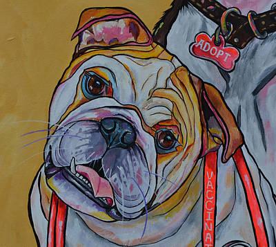 Bulldog Poster by Patti Schermerhorn