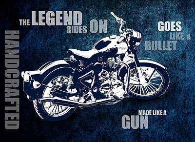 Bullet Blues With Caption Poster