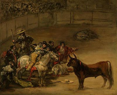 Bullfight, Suerte De Varas Poster by Francisco Goya