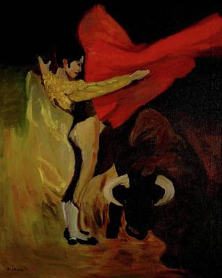 Bullfighter By Mary Krupa Poster by Bernadette Krupa