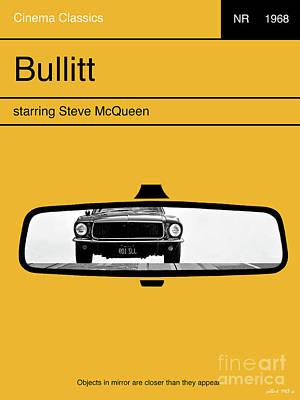 Bullitt, Minimalist Movie Poster, Steve Mcqueen Poster