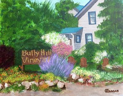 Poster featuring the painting Bully Hill Vineyard by Cynthia Morgan