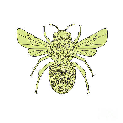 Bumble Bee Mandala Poster by Aloysius Patrimonio