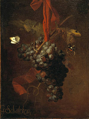 Bunch Of Grapes Poster by Godfried Schalcken