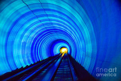Poster featuring the photograph Bund Tunnel Lights by Angela DeFrias