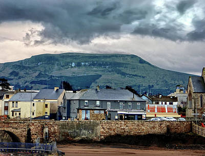 Bundoran - Bridge Bar - Looking Towards Dartry Mountains Poster