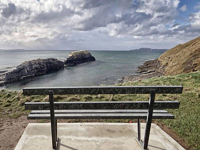 Bundoran - View Over The Diving Platform At Rougey Rocks Poster