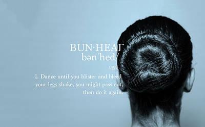 Bunhead Blue Poster by Christina Riley