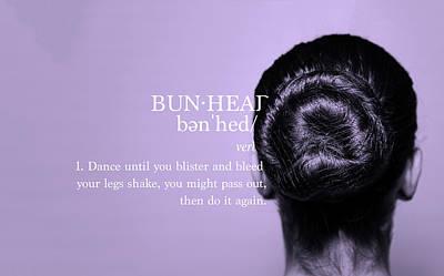 Bunhead Lavender Poster by Christina Riley