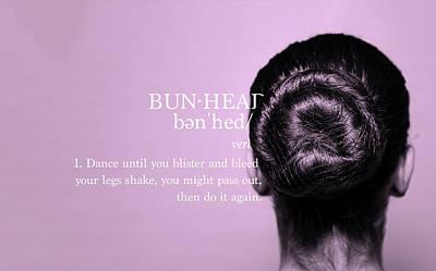 Bunhead Pink Poster by Christina Riley