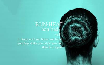 Bunhead Turqoise Poster by Christina Riley