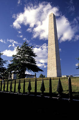 Bunker Hill Monument In Charlestown Poster by Richard Nowitz