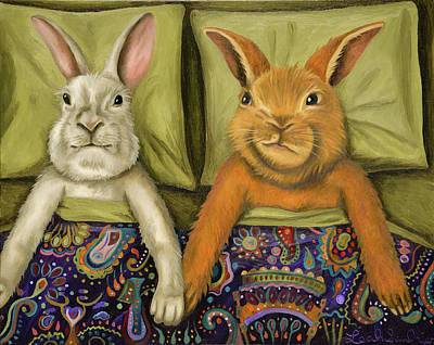 Bunny Love Poster by Leah Saulnier The Painting Maniac