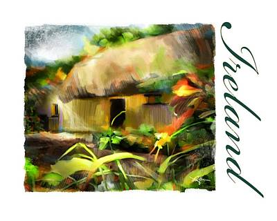 Bunratty Village Ireland Poster by Bob Salo