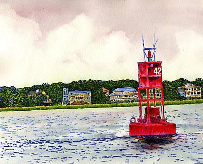 Buoy 42 Poster by Thomas Hamm