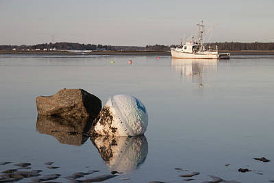 Poster featuring the photograph Buoy Reflection by Kirkodd Photography Of New England