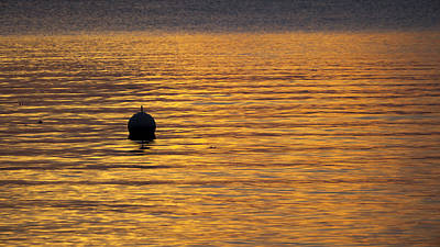 Buoy Sunset - Madison - Wisconsin Poster