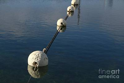 Poster featuring the photograph Buoys In Aligtnment by Stephen Mitchell