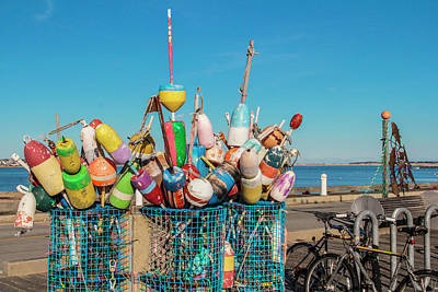 Buoys In Provincetown Poster by Ben Hughes