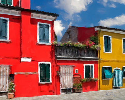 Poster featuring the photograph Burano Color Houses. by Juan Carlos Ferro Duque