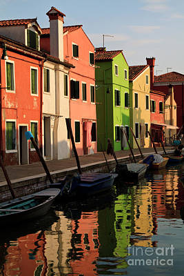 Poster featuring the photograph Burano Reflections by Dennis Hedberg