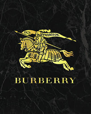 Burberry - Black And Gold Poster