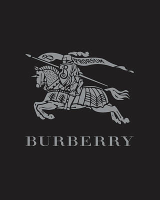 Burberry - Black And Grey Poster