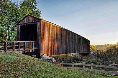 Poster featuring the photograph Burfordville Covered Bridge by Cricket Hackmann