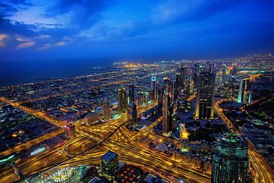 Burj Khalifa View Poster