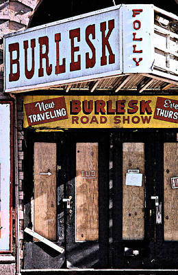 Burlesk At The Folly Poster