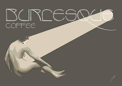 Burlesque Coffee  Poster by Joaquin Abella