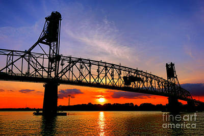 Burlington Bristol Bridge Sunset  Poster