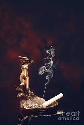 Burning Cigarette Poster by Amanda Elwell