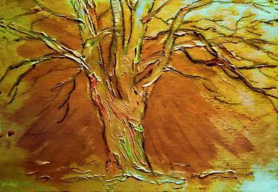 Burnished Silver Birch Tree-landscape Painting By V.kelly Poster