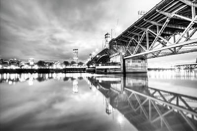 Burnside Bridge Willamette River Portland Oregon Poster